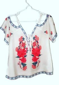 Flying Tomato Womens Cold Shoulder Blouse Small